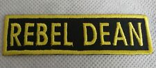REBEL DEAN PATCH / BADGE, HIGH QUALITY, LIMITED EDITION , FREE P&P, BRAND NEW!