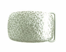 Silver Plated Hammer Forged Small Rectangle Metal Fashion Belt Buckle