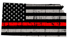 Kansas State (C17) Thin Red Line Vinyl Decal Sticker Car/Truck Laptop/Netbook