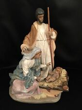 """~RARE & Mint Condition~Lladro """"A King is Born"""" Nativity (2198 Christmas)"""