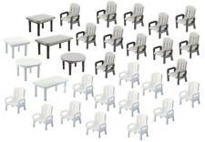 Faller 180439 - 1/87 / H0 24 Gartenstühle Und 6 Tische - Neu