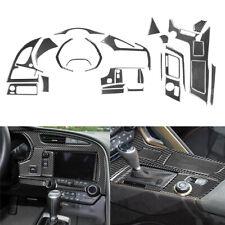 27Pcs Carbon Fiber Interior Decorative Kit Trim Cover For Chevrolet Corvette C7