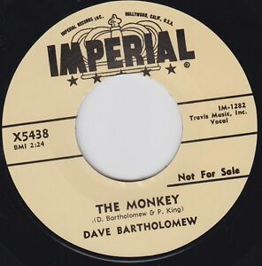 """DAVE BARTHOLOMEW The Monkey 7"""" Re. New Orleans 1957 Infectious R&B killer HEAR"""