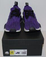 Adidas NMD R1 PK Primeknit Purple Ink B37627 Men's Size 12