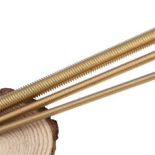 M2-M20 Solid Brass Fully Threaded Rod Screw Bar Studs Length 250mm/500mm
