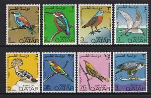 Qatar - 1972, Birds set - M/m - SG 391/8