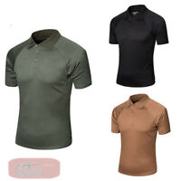 Men's Army Outdoor Tactical Combat T-Shirt Military POLO Shirt Quick Dry Hiking