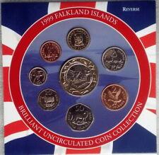 1999 2000 Falkland Islands Mint Set 8 Coins Complete set Royal Mint