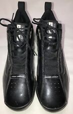 Under Armour Mens Baseball Metal Cleats Black/Silver Size 11.5 Excellent