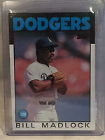 Collectible Vintage 1986 Topps #470 Bill Madlock Card Los Angeles Dodgers