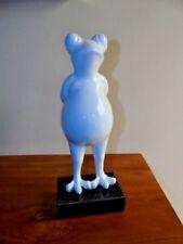 statue grenouille blanche laquée,art déco , art moderne nouveau  ! .