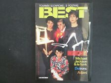 BEST N°189 AVRIL 1984 INDOCHINE AVEC POSTER TOURNEE SCORPIONS TTBE