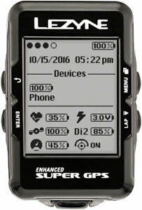 Lezyne Super GPS Cycling Computer Heart Rate Monitor USB Chargeable