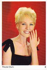 "VIGNETTE CARTONNEE 60's  ""PETULA CLARK""  (9.5 cm x 6.5 cm)"