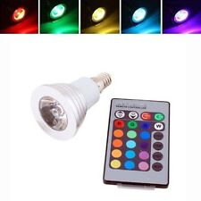3W E14 LED RGB Magic Light Bulb Lamp 16 Colors Changing With Wireless Remote US