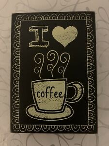 """I LOVE COFFEE "" Wall Wood Home Decoration"