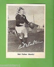 #D232. 1967 MIRROR RUGBY LEAGUE PHOTO CARD - MANLY- BOB FULTON CARD