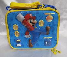 Super Mario Brothers Mario Gold Coins Insulted Lunch Bag Lunchbox- New!