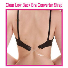 Clear Low Back Bra Strap ~ BLACK ~  Low Back Bra Converter Strap ~ ONE SIZE