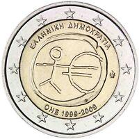 Griechenland 2 Euro Münze 2009 bfr. Wirtschafts & Währungsunion WWU / EMU