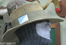 WW1 1st Australian light horse puggaree and colour patch, plain pug