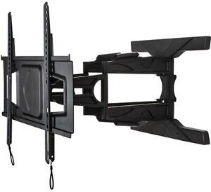 "B-TECH BT8225/B Tilt and Swivel Double Arm TV Wall Mount, 39"" to 75"" Screen, NEW"