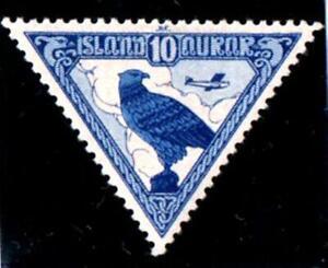ICELAND. 1930. 10K.GYRFALCON. AIRPOST.SG173. VERY FINE M/MINT