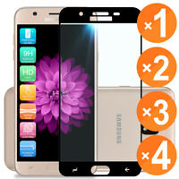 For Samsung Galaxy J7 Star Black Full Cover Tempered Glass Screen Protector