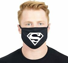Superman Logo Black Face Mask Washable Reusable Made in USA