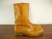 Vintage Hytest Union Made in USA Brown Leather Biker Motorcycle Riding Boots 8.5