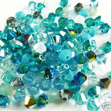 Swarovski 5328 Xilion Bicone Mixes 4mm Turquoise 100 beads