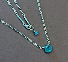 Apatite Solitaire Drop & Sterling Silver Chain Necklace U&C Sundance