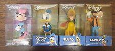 Vintage Disney Mini-Bobbleheads Goofy Pluto Donald Duck Minnie Mouse