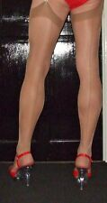 5 Pairs Natural Point/French/Cuban heel seamed Stockings Large Size