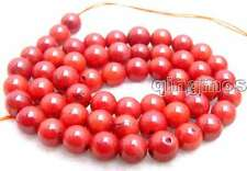 """SALE small 6-7mm round Red natural Coral strand beads 15""""-los197"""