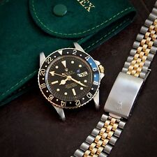 Rolex Gilt Dial GMT MASTER Ref. 1675 18ct Solid GOLD & Steel Cal. 1570 & Jubilee