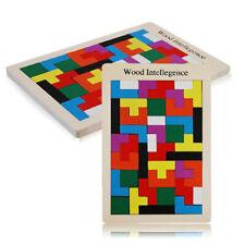 Holz Tetris Spiel Montessori Kinder Kinder Kleinkinder Puzzle Lernspielzeug