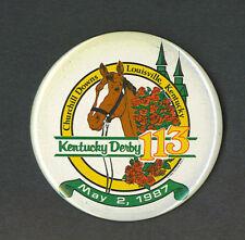 Kentucky Derby 1987 Churchill Downs pinback button