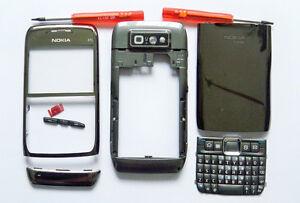 Full new Grey silver Fascia housing cover facia case faceplate for Nokia E71