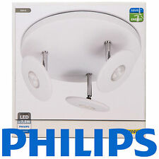 Philips Massive LED Ceiling 3 Spot light White 3 x  7.5watt triple lamp