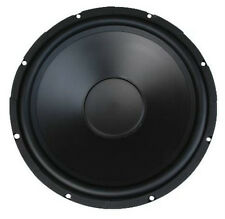 """15"""" Woofer Replacement PAIR Poly Cone Rubber Surround 200W 8ohm Home Car Audio"""