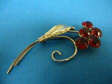 WILCOX BOUQUET OF RHINESTONE ROSES STERLING .925 SILVER BROOCH PIN