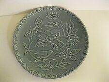 "Faience de St. Amand 1970 Bird Plate Grayish Blue France Limited Edition 9.75"""
