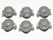LEGO LOT OF 6 DARK GREY NINJA SAMURAI NINJAGO HELMETS PIECES