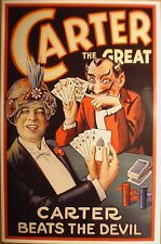 """art print CARTER THE GREAT vintage magic poster 24""""x36"""" magician quality repro"""