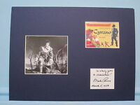 Jose Ferrer in Cyrano and Mala Powers autograph who played  Roxanne