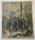 1864 magazine engraving ~ GENERAL ULYSSES S GRANT CROSSING CUMBERLAND MOUNTAINS