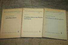 3 Fachbücher Holzbearbeitungsmaschinen, Schleifen, Hobel, Fräsen, Tischler, 1961