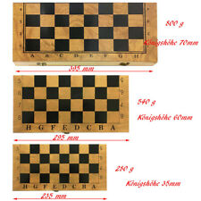 Schachspiel aus Holz 3 in1 klappbares Schachbrett 23, 29, 39 cm