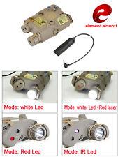 Element Airsoft Light LA PEQ 15 Tactical Flashlight Led Red Laser IR CS WAR GAME